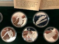 Canada 1988 Calgary Winter Olympic PROOF Silver Coin Set 10 Coins with box & COA