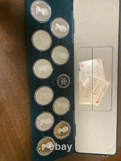 Canada 1988 Calgary Winter Olympics Proof 1 oz. 999Silver 10 Coin Set wCOAs