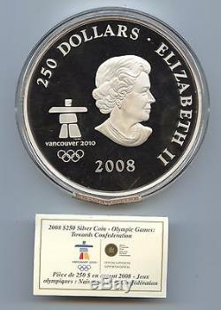Canada 2008 $250 Olympic Coin (#889) NGC PF69 Ultra Cameo. Kilo of Pure Silver