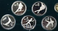 Canada Winter Olympic Proof Set 10 Silver $20 and One $100 Gold Coin with COA
