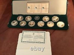 Canada1988 Calgary Winter Olympic Coin Set Of 10 $20 Silver Coins