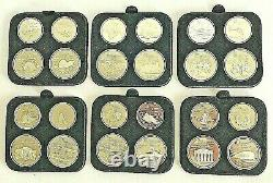 Commemorative 1976 Canada Montreal Olympic Games set of 24 Silver Coins $5, $10