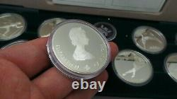 Complete Set of 10 1988 Calgary Olympic 1 oz Silver Coins 59755-1 LOC. BY9R