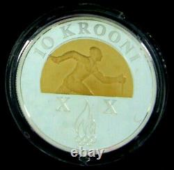 ESTONIA 10 Krooni- -RARE- SILVER PROOF COIN 2006 Olympic Winter Games at Torino