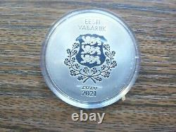 Estonia 2021 Tokyo Summer Olympic Games Silver Coin 8 Euro Proof in Box w Cert