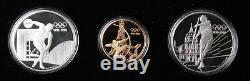 France 1994 Olympic Centennial Games Gold/Silver 3 Coin Set withCOA & Original Box