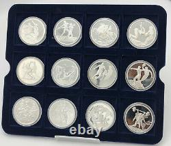 GREECE ATHEN OLYMPIC COIN SET 2004 PROOF SILVER 12 pcs
