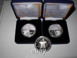 GREECE GRECE GRECIA 2011 10 Special Olympics Set 2 Silver Proof Coins RARE