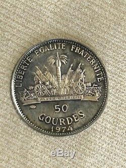 Haiti 1974 Innsbruck Montreal Olympics 500 Gourdes PCGS Gold & Silver 2 Coins
