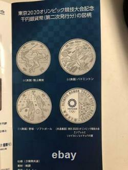 JP 2020 Olympic Games Tokyo 1000 Yen Silver Baseball and Softball Proof Coin