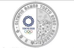 Japan 2020 Olympic Games Tokyo 1000 Yen Silver Wrestling Proof Coin
