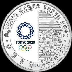 Japan 2020 Olympic Tokyo 1000 Yen Silver WRESTLING Proof coin NEW Limited #1650