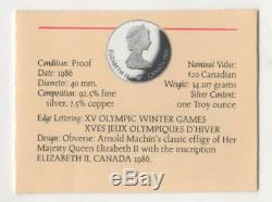 Lot of 20 1988 Calgary Olympic Sterling Silver $20 Coins 20 troy oz total