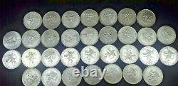 Mexico Lot Of 32 Olympics 1968 25 Pesos 0.720 Silver Coin C -86