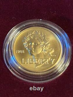 Mint 1988 Proof Olympic Commemorative 2 Coin Set $5 Gold & Silver Dollar
