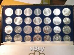 Montreal 1976 Olympic silver coins. Complete set