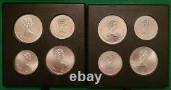 Montreal Canada 1976 Olympics $5 & $10 24 Piece Uncirculated Silver Coins