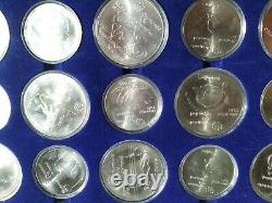 Montreal Olympics Silver 28-Coin Coin Set (5, 10 CAD), 1976