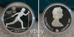 NMIB 1988 CALGARY OLYMPIC WINTER GAMES Sterling Silver 10 Pc Proof Coin Set