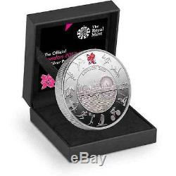 New 2012 UK Great Britain Silver London Olympic Piedfort £5 Proof Coin & Box COA
