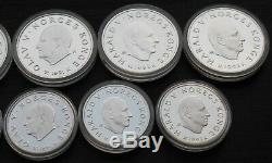 Norway Lillehammer Winter Olympics 1994 Silver Coin set 50-100kr