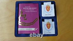 Norway Lillehammer Winter Olympics 1994 Silver proof Set All 50 and 100 kr coins