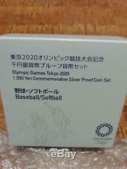 Olympic Games Tokyo 2020 Baseball Softball 1000Yen Commemorative Silver Coin Set