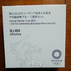 Olympic Paralympics Tokyo 2020 Thousand Yen Silver Coin Proof Currency Set of 10