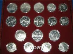Olympics Russia USSR 1980 Moscow complete 28 COIN 20.24 Oz Silver GEM Set + BOX