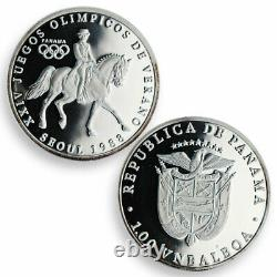 Panama set of 8 coins Summer Winter Olympic Games 1988