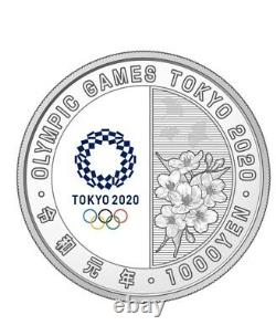 Pre Order Japan 2020 Olympic Tokyo 1000 Yen Silver Gymnastic Proof Coin