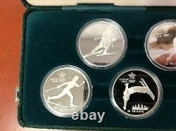Royal Canadian Mint 1988 Olympic 10 Sterling Silver Coin Set (10 Troy Ounces)