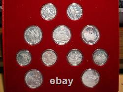 Russia 1980, 28 coin Olympic set 14, 5 Roubles, 14, 10 Roubles 20.24 oz ASW