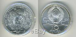 Russia Soviet Union USSR 1979 5 Silver Coins Olympics, Moscow 1980