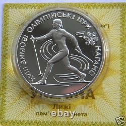 SKI, BIATHLON, FIGURE SKATING Set 3 Ukraine Silver Proof Coins 1998 Olympic