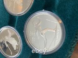 STERLING SILVER COINS CANADA 1988 CALGARY OLYMPIC WINTER GAMES SET10 Coins