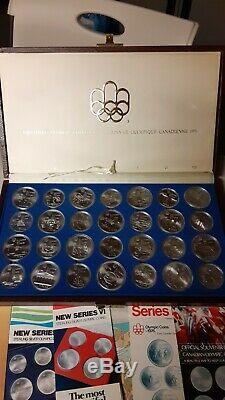 Silver Canadian Olympic Coins Set 1976 Montreal Games Set 28 BU Coins
