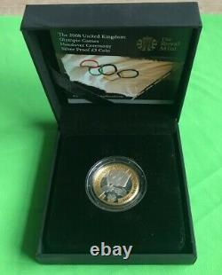 Simply Coins 2008 SILVER PROOF OLYMPIC HANDOVER 2 TWO POUND COIN BOX COA