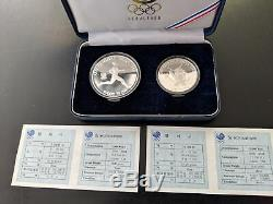 South Korea 5K &10K Won 1988 Olympics Proof Silver 2-Coin Collection (Lot of 8)