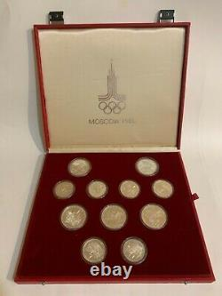 Soviet Union 28 coin set 1980 Moscow Russia Olympics. 900 fine 20.24 oz ASW