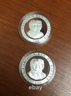 Spain Official Barcelona 1992 Olympic 4 coin 2000 PTAS Silver Proof Set HARD2FIN