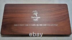 Sydney 2000 Olympic Silver Coin Collection 16pc Set. 999 Fine 31.6gr OGP COA