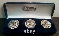The Art Of Olympic Coins Box-coa. 925 Silver