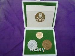 Tokyo 1964 Olympic Participation Medal Coin participant Gold, Silver, Bronze