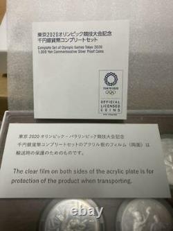 Tokyo 2020 Olympic Games commemorative 1000 yen silver coin 9 set