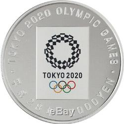 Tokyo 2020 Olympic Games holding commemoration 1000yen Colored Silver Coin Proof