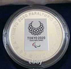 Tokyo 2020 Paralympic Commemoration 1000 Yen Silver Proof Coin Set Japan