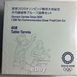 Tokyo Olympic 2020 commemorative Proof Table Tennis Silver Coin