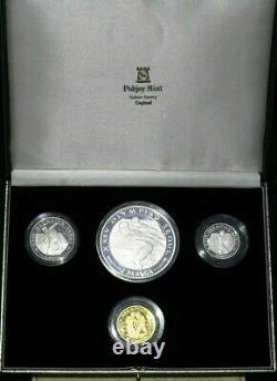 Tonga 1988 Korea Seoul Olympics Gold Platinum Palladium Silver 4 Coins SET