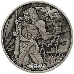 Tuvalu 1 Dollar 2020 Götter des Olymp Zeus (1.) 1 Oz Silber AF